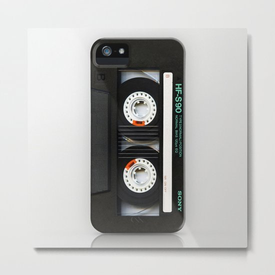 Classic retro sony cassette tape iPhone 4 4s 5 5c, ipod, ipad, tshirt, mugs and pillow case Metal Print