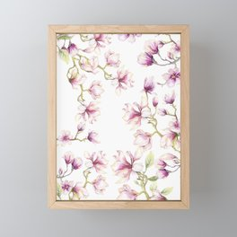 Delicate Magnolia 2 Framed Mini Art Print