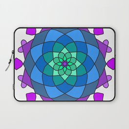Mandala in blue and pink colors Laptop Sleeve