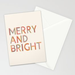 Merry and Bright Light Stationery Cards