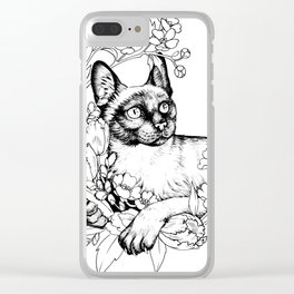 Color-Me Feline: Siamese Clear iPhone Case