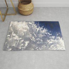 Cloud of ice crystals Rug
