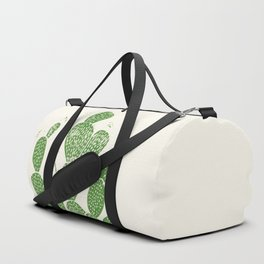 Linocut Cactus #1 Duffle Bag