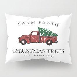Christmas Tree Farm Vintage Truck Pillow Sham