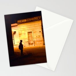Man in Black Stationery Cards