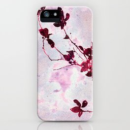 Botanical Traces in Pink iPhone Case