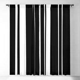 Minimalist Era - Black & White Stripe Asymmetrical Blackout Curtain