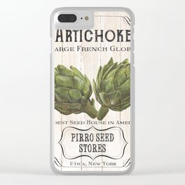 Organic Seeds 1 Clear iPhone Case