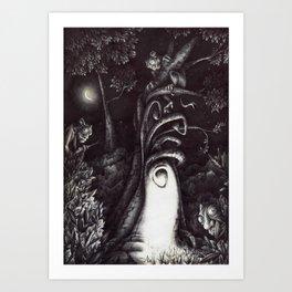 La casa degli Omini Art Print