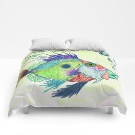 Funky Fish Art - By Sharon Cummings Comforters