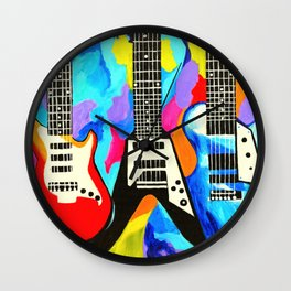Fancy Guitars Wall Clock