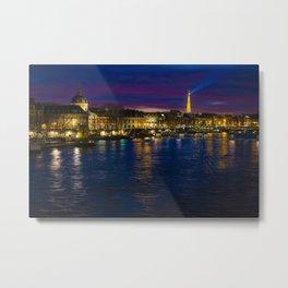 Paris by Night Landscape Metal Print