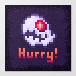 Hurry Von Death Ghost Canvas Print