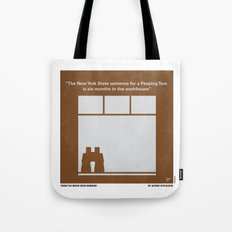 No238 My Rear window minimal movie poster Tote Bag