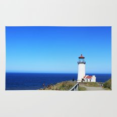 Lighthouse at Olympic National Park seaside, Seattle.  Rug