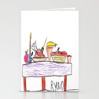 thanksgiving Stationery Cards featuring Thanksgiving Feast by Ryan van Gogh