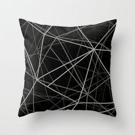 Geometric lines Throw Pillow