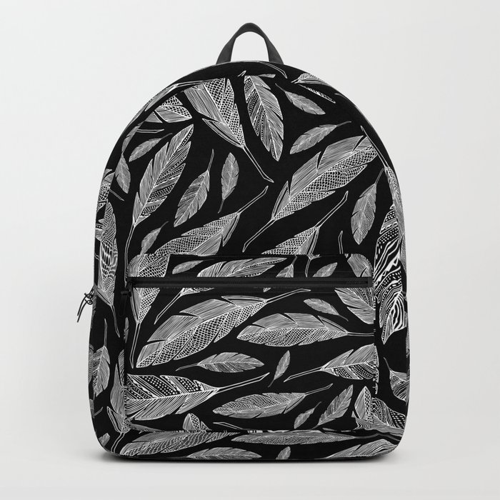 Float Like A Feather - Black Backpack
