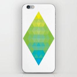 Yellow Cyan Diamond Gradient iPhone Skin