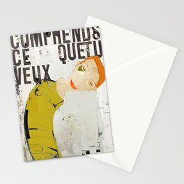 « comprends ce que tu veux » Stationery Cards