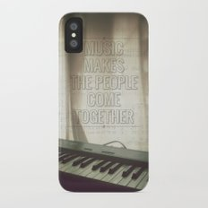 Music makes the people come together Slim Case iPhone X