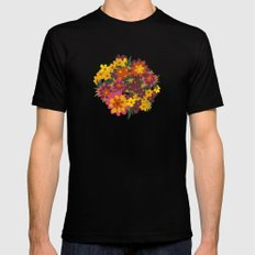 Flowers For Lola MEDIUM Mens Fitted Tee Black