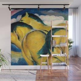 """Franz Marc """"Little Yellow Horses"""" Wall Mural"""
