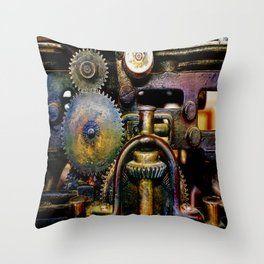 Grinding My Gears Throw Pillow