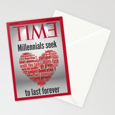 millennials seek love to last forever Stationery Cards