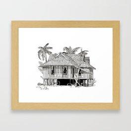 Rumah Kampung (Large) Framed Art Print