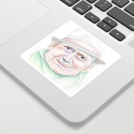 Elderly Man Sticker