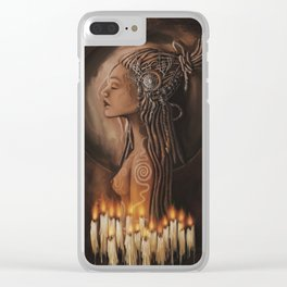 Priestess of the Moon & Sun Clear iPhone Case