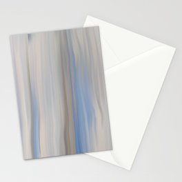 Modern Abstract Blue Lilac Gray Brushstrokes Stripes Stationery Cards