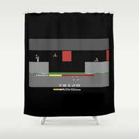 hero Shower Curtains featuring Hero by klausbalzano
