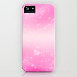 Magic deep pink heart patterned iPhone Case