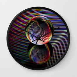 Tartan glass ball Wall Clock
