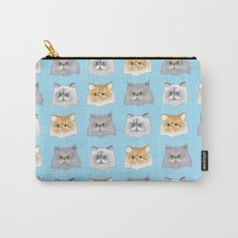 Purrfect Persian Pattern Carry-All Pouch