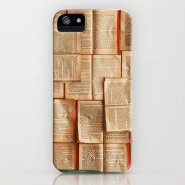 Vintage Novels (Color) iPhone Case