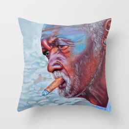 He was there everyday Throw Pillow