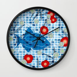 By The Pool !! Wall Clock
