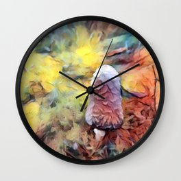 Out of Focus Shaggy Mane Wall Clock