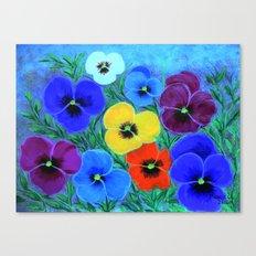 Painted pansies Canvas Print