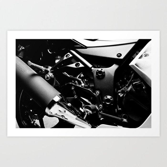 Kawasaki Ninja Motorcycle Wall Art V Art Print