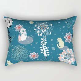 baby animals' reunion Rectangular Pillow