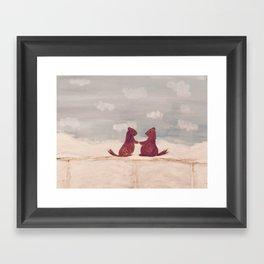 Marmots Love Framed Art Print