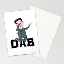 Kim Jong Un Dabbing Stationery Cards