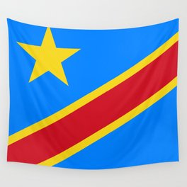 National flag of the Democratic Republic of the Congo, Authentic version (to scale and color) Wall Tapestry