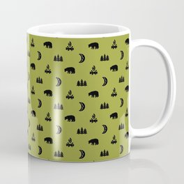 LET'S GO CAMPING, OLIVE Coffee Mug