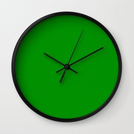 Islamic Green - solid color Wall Clock