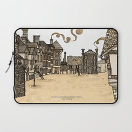 Victorian Frankwell Under Water, sepia Laptop Sleeve